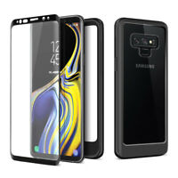 Galaxy Note 9 S9 S10 5G Case Slim Rugged Hybrid Clear Case With Screen Protector
