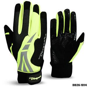 Winter Cycling Gloves for Men Hi Viz Thermal Windproof Full Finger Anti Slip