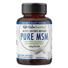 Pure MSM supplement capsule (60 Tablets/ 30 Days), Hair Growth, Joint Support
