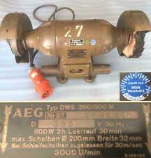 AEG DWS 200/800 Doppelschleifbock 380V Doppelschleifer Schleifmaschine Grinder Y