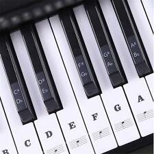 DIY Decortion 49 61 88 Key Piano and Keyboard Stave Note Stickers for White Keys