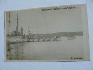 WW1 German Navy. SCHNELLE MINENSUCHDIVISION. Marked W.Kruger