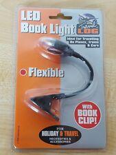 Travel Log Flexible Mini LED Book Clip Reading Night Light Travel Holiday CZ3