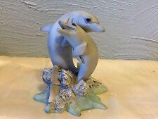 "Castagna Animal Figurines #330 Dolphin Lovers 4.25"""