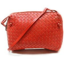 Bottega Veneta Cosmetic Pouch Intrecarto Reds Leather 710681