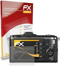atFoliX 3x Beschermfolie voor Olympus E-P2 Screen Protector mat&schokbestendig