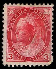 CANADA #78 .03c QV DEFINITIVE ISSUE OF 1898 - OGHR - FINE - CV $65.00 (E#9642)