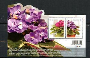 Canada MNH #2376 Souv Sheet Violets Flowers 2010   A533
