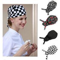 Chapeaux de Chef Bandana Boulanger, Restaurant  Unisexe Headwrap Cuisine Bandana