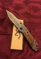 Browning X66 Tactical Survival folding pocket knife NEW