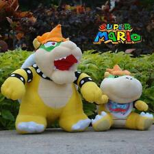 2Pcs/Lot Super Mario Bros Plush Toy Bowser Koopa & Bowser Jr.  Stuffed Animal