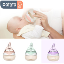 POTATO 2PCS Baby Bottle Breast Milk Anti Colic Bottle Slow Flow Wide Neck Bottle