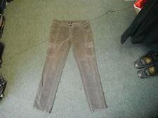 "George Slim Leg Cord Jeans Size 16 Leg 31"" Faded Dark Brown Ladies Cord Jeans"