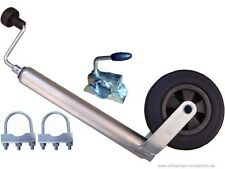 Anhänger Stützrad 150 kg mit Klemmhalter und Schellen (Rund 70mm)