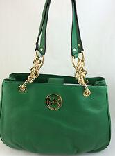 New Michael Kors MK Fulton Medium Chain Tote Bag Purse Handbag Gooseberry Green
