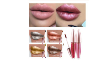 New High Gloss Lip 12 Color Metallic Lasting Beauty Liquid Lipstick Metal Silver