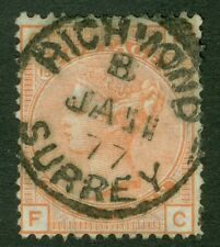 SG 152 4d vermilion plate 15. Very fine used with a Richmond, Surrey CDS, Jan...