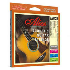 Alice Acoustic Guitar Strings Phosphor Bronze custom Light 11/52 Coated Antirust