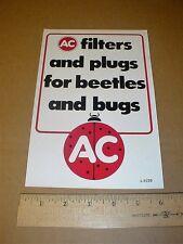 AC Delco Drag Racing vintage original Sticker Decal Beetles & Bugs VW bug 9-inch