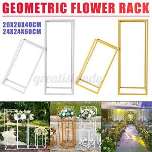 4Pcs Wedding Flower Stand Metal Vase Stand Floor Column Floral Rack 15/23in