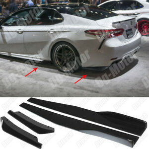 For Toyota Camry LE SE Side Skirt Extension Rear Diffusser Canard Apron Body Kit