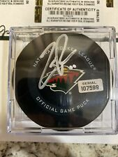 2019-20 ZAC PARISE Game Used Goal Puck MINNESOTA WILD SIGNED