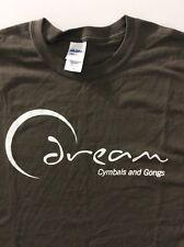Caveman Cymbals Gongs Music Instrument Gray T-Shirt Size L