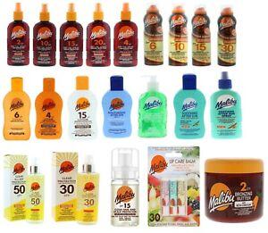 Malibu Sun Tan Protection Lotion Spray Dry Oil Creams SPF's - Choose Product