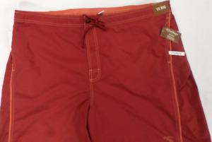 Caribbean Roundtree & Yorke Swim Trunks Men's  Big & Tall Size 1X Red NWT