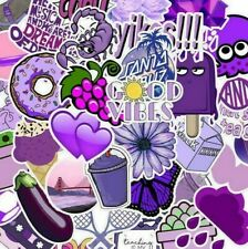 10pcs Purple VSCO Girl Stickers Hydro Flask Good Vibes Decal Teen Positivity