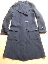 Manteau long Cop Copine noir t 38 laine tricot / bien noir!