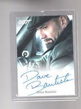 James Bond Archives Final Edition Dave Bautista Autographed card