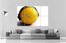 SMILEY DJ FUN Wall Poster Grand format A0 Large Print