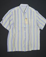 TOMMY BAHAMA Lavender Frost 'Stripe by Stripewest' S/S Linen Sport Shirts NWT