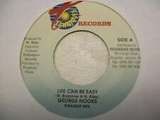 """George Nooks- Life Can Be Easy 7"""" Reggae 45 Techniques"""