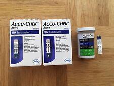 100 St. (2x50) ACCU-CHEK AVIVA Blutzucker Teststreifen NEU & OVP MHD 28.02.2019