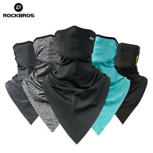 ROCKBROS Summer Sports Ice Silk Triangle Scarves Neck Warmer Headband 3 Colors