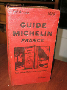 Guide rouge Michelin 1929.
