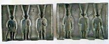 Vintage Lead Toy Soldier Mold 3 Old Men Train Figures