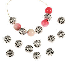 20pcs round ball Antique Tibetan Silver spacer Beads Findings jewelry making 7mm