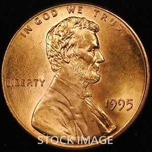 1995-P Lincoln Memorial cent penny - Beautiful GEM BU Quality!