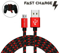 Micro USB FAST Charger Cable for PlayStation4 PS4 Slim Dualshock Game Controller