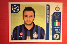 PANINI CHAMPIONS LEAGUE 2011/12 N 88 PAZZINI INTER WITH BLACK BACK MINT!!