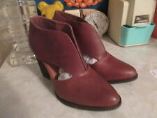Free People x Jeffrey Campbell Tan brown   Leather Deep V Cutout Boots 8 NWOB