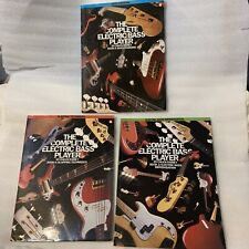 Three electric bass guitar instruction books