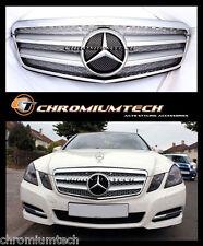2009-2012 Mercedes W212 NEW E Class SILVER CHROME Grill E63 AMG Saloon or Estate