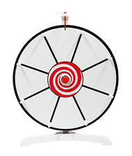 Prize Wheel 12 inch Spinning Customizable Color White Classic Peg Design Spinner