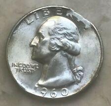 1960 Washington Quarter Error Ragged Clip Clipped Planchet