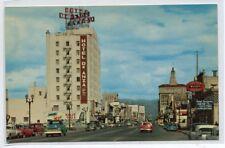 Santa Clara Street Cars San Jose California postcard
