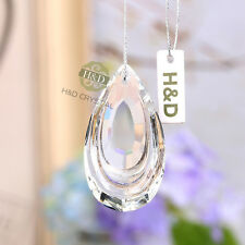 5PCS Crystal Chandelier Lamp Prisms Parts Hanging Drops Pendants Home Decor 38mm